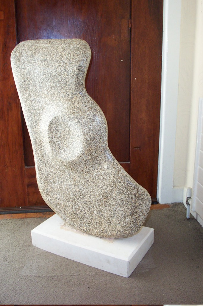 Abstract, Granite Polished. Simple abstract forms combine with a high polish.