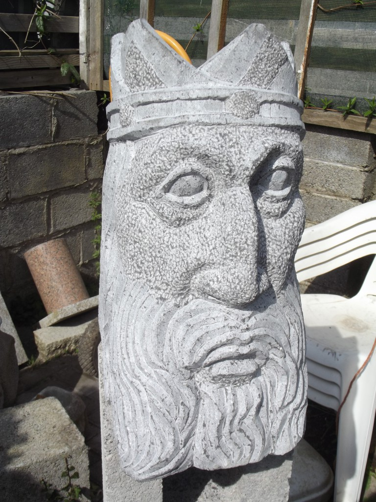 Brian Boru, Limestone 2014. Commissioned to mark the 2014 Battle of Clontarf Commemorations.