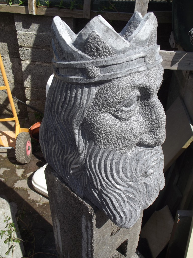 Brian Boru 2014, Limestone. Commissioned to mark the 2014 Battle of Clontarf commemorations.
