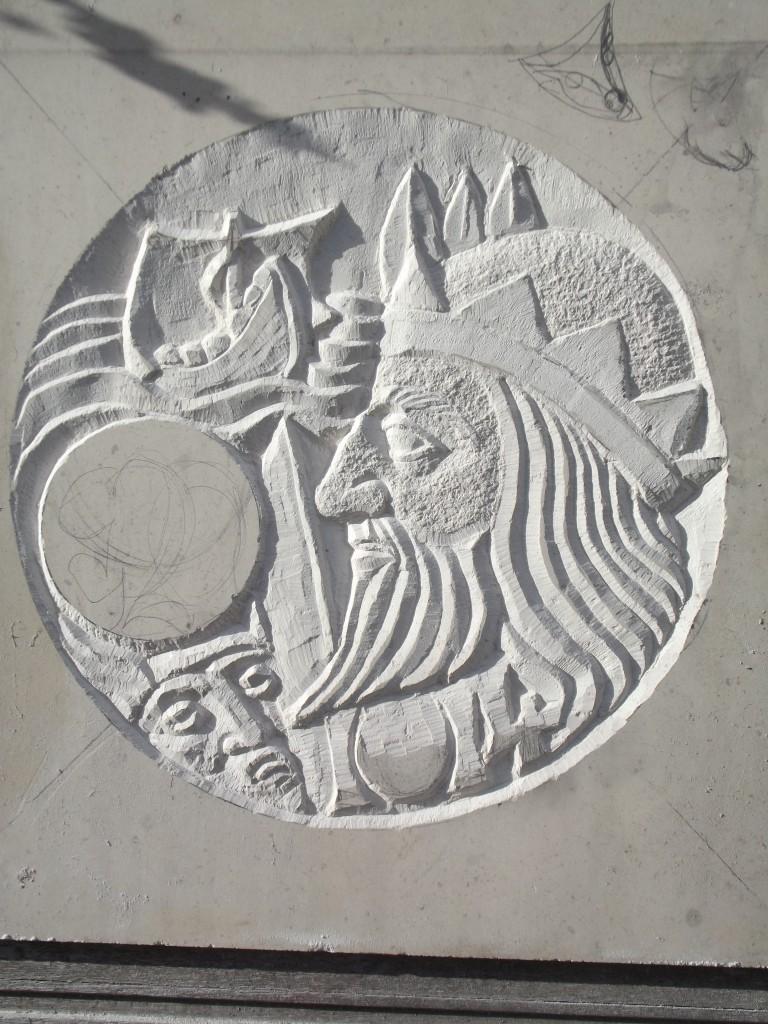 Brian Boru. 2nd Design. White Limestone.