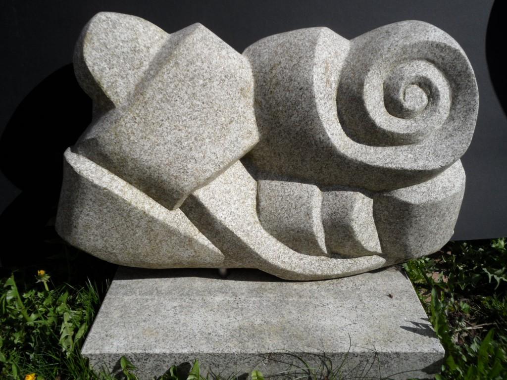 Celtic Knot 2. Granite. Inspired by Celtic interlacing.