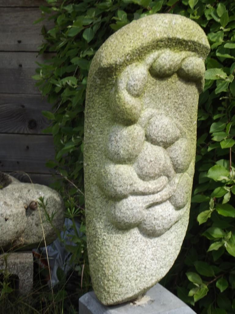 Conception. Granite. Interprets the moment of conception in stone.