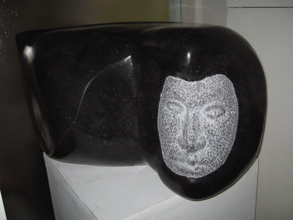 Cuchulain. Limestone. Head of the Irish mythical hero.