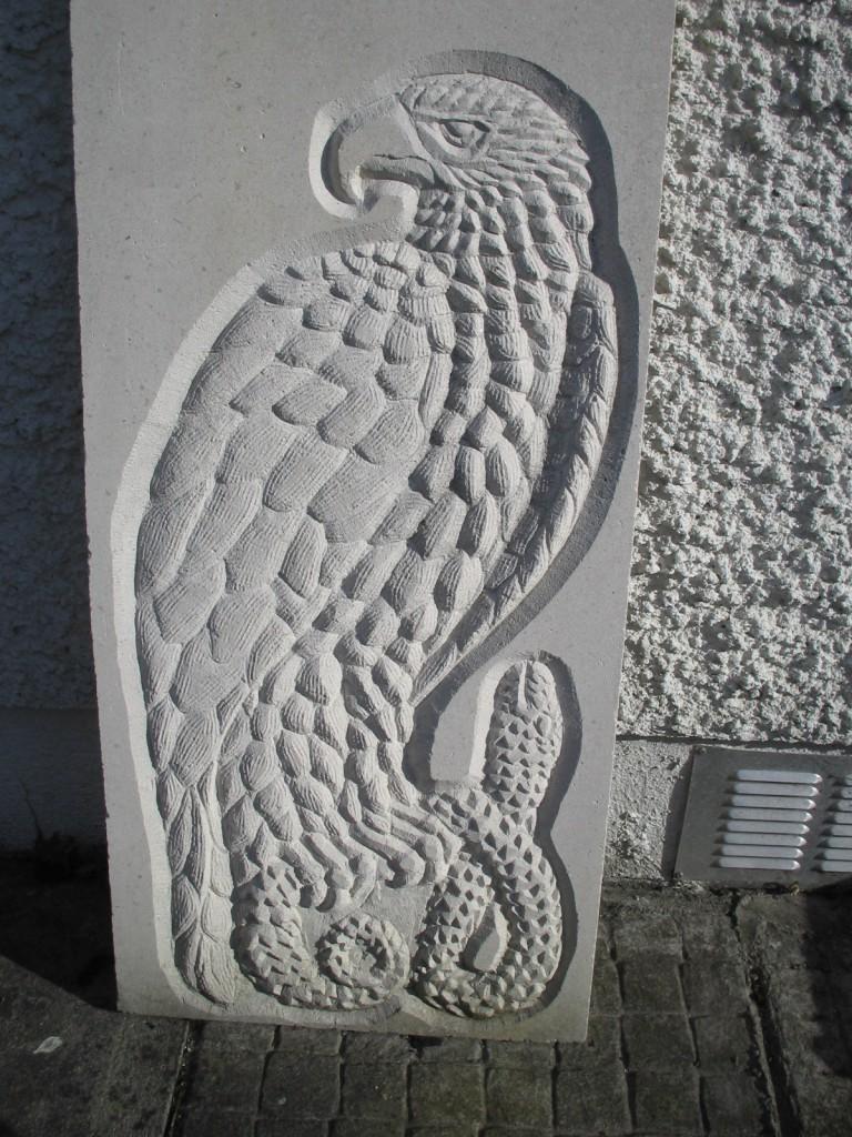 Eagle Panel. White Limestone.