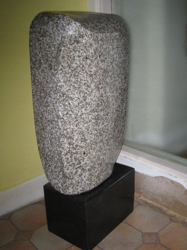 Enigma. Polished Granite. A simple abstract piece for indoor or outdoor spaces.