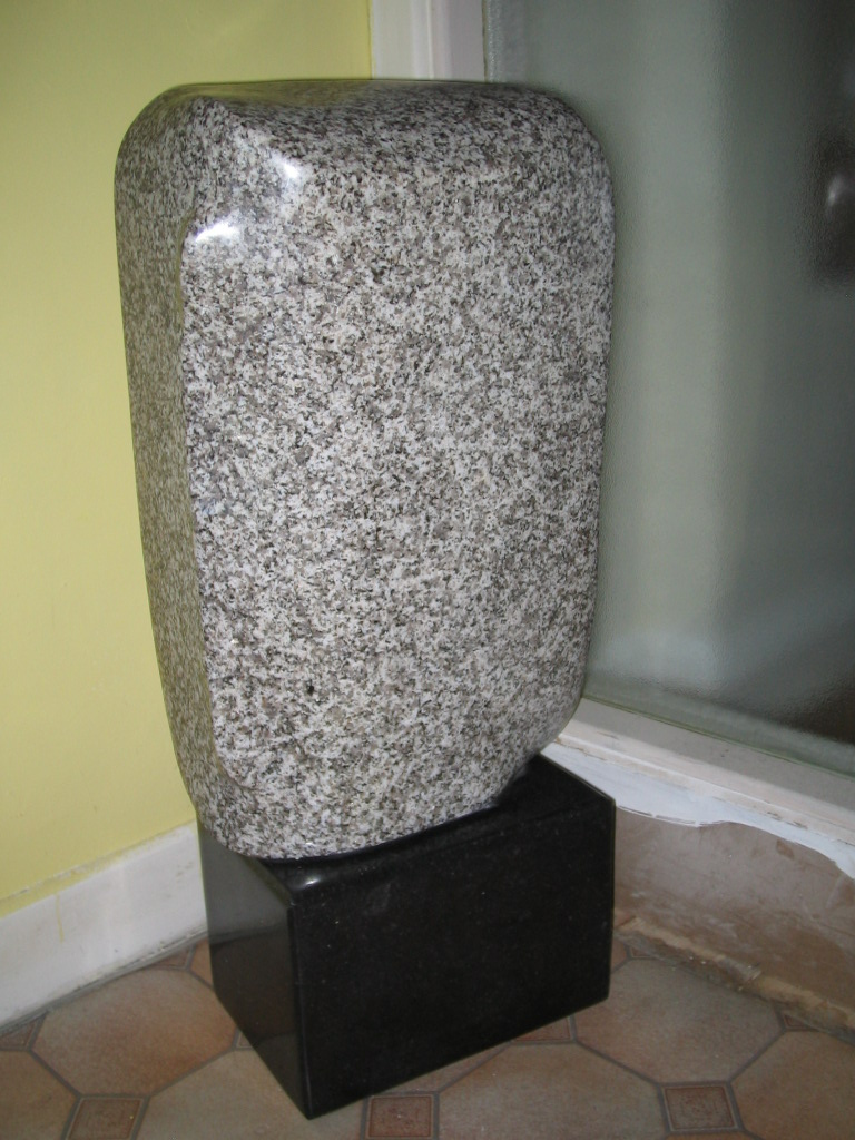 Enigma. Polished Granite. Simple abstract piece, suitable for indoor or outdoors.