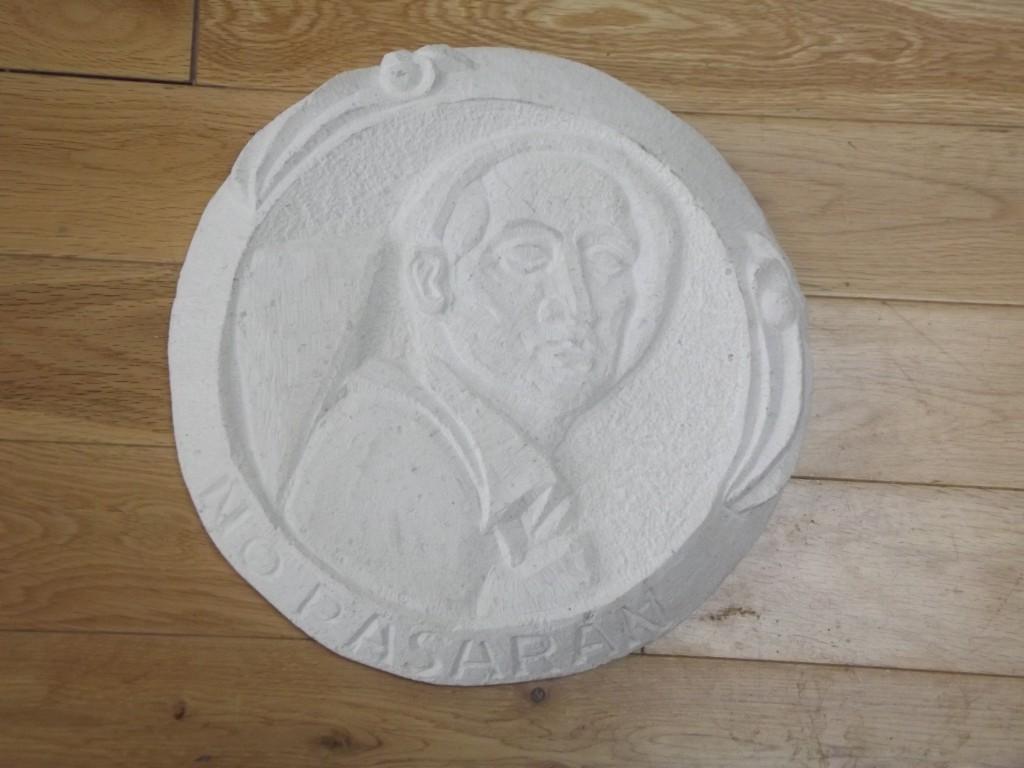 George Brown Plaque. White Limestone.