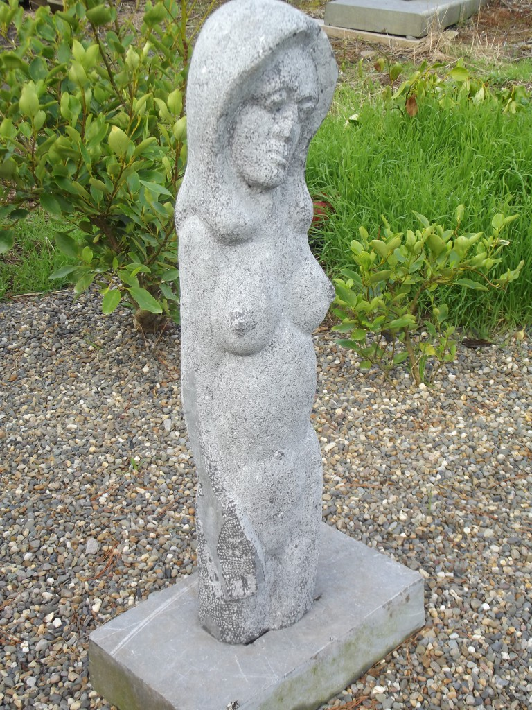 Gothic Erotic. Limestone. A large garden piece inspired by the female form.