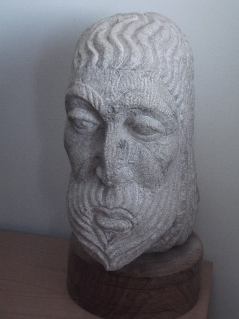 Medieval Head. Limestone. Inspired by medieval portraiture.