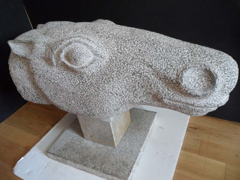 Oisin's Horse. Large Limestone head. Inspired by Classical equestrian scculpture.