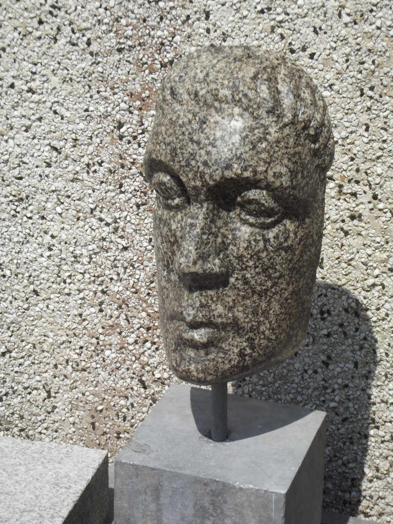 Roman Head. Granite. Inspired by the Classical period.