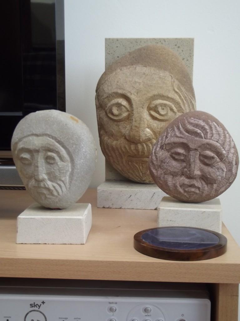Small Heads. Sandstone & Limestone.