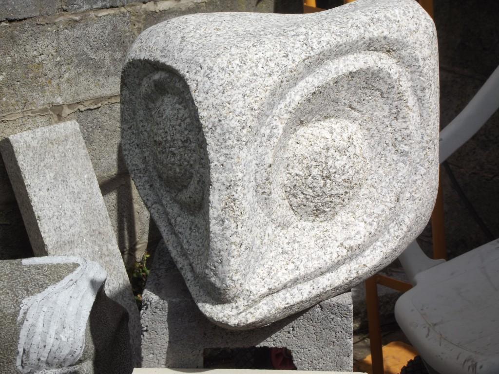 Space Opus 5. Granite. Abstract garden piece.