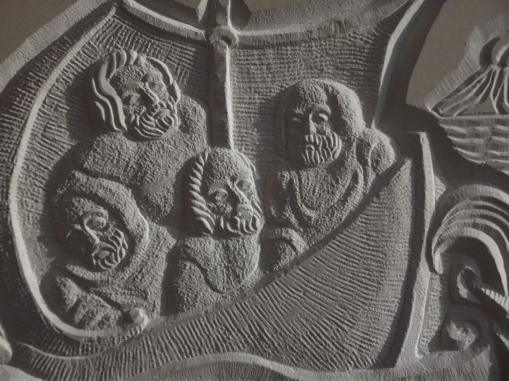 Voyage Plaque. Sandstone Relief.