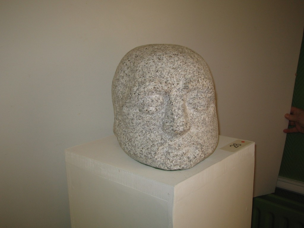 Ancestral Head, Granite. Early Irish pagan art has inspired this piece.