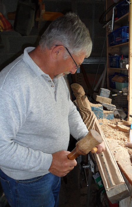 Noel carving.